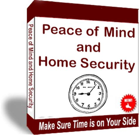 Peace Of Mind An Electronic Phone Book by New E Book Peace Of Mind And Home Security Make Sure