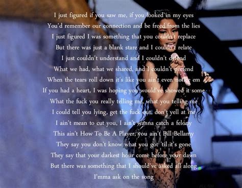 bed of lies nicki minaj s new lyrics for bed of lies i truly hope