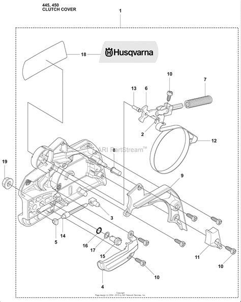 husqvarna 445 chainsaw parts diagram husqvarna 445 2009 02 parts diagram for clutch cover