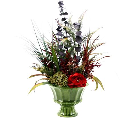 decorative floral arrangements home custom spring decor silk flower arrangement home