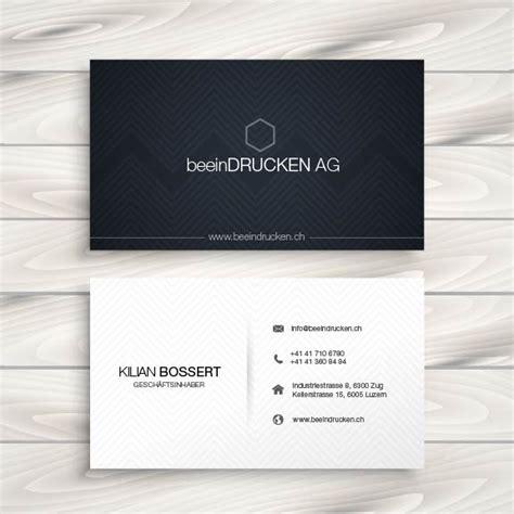 Visitenkarten Drucken Schweiz by Visitenkarten Drucken Und Gestalten Schweizer Produktion