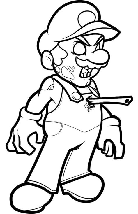 Coloring Pages Zombie Mario Coloring Page Things To Color Coloring Pages Of Stuff