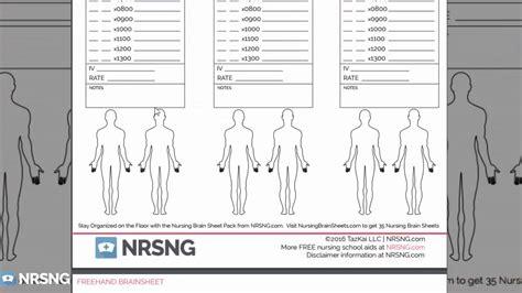 nursing brains template nursing brain sheets database free templates