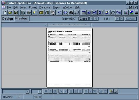 creating the reports for the employee database maintenance