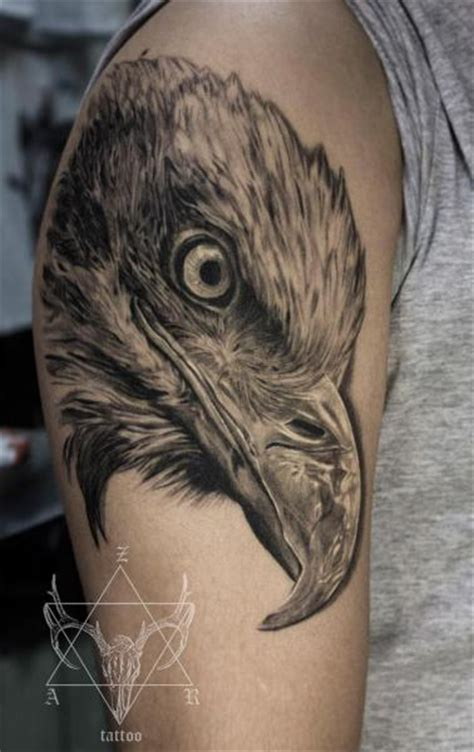 tattoo eagle realistic shoulder realistic eagle tattoo by nikita zarubin