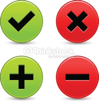 Beautiful Bouton Poussoir Vert #11: Validation-icon-plus-minus-check-mark-delete-sign-vector-id179469226?s=170667a