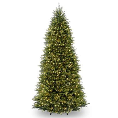 12 ft dunhill slim fir hinged christmas tree with 900