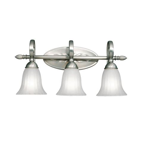 Kichler Vanity Light by Shop Kichler Willowmore 3 Light 11 In Brushed Nickel Bell