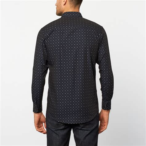 Blue Pattern Button Up | button up shirt blue pattern s platini touch of