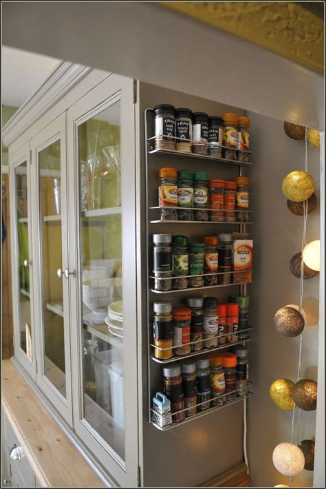 Kitchen Cabinet Door Spice Rack by Kitchen Utensil Rack Home Design Ideas