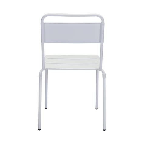White Outdoor Dining Chair Zuo Oh Outdoor Dining Chair In White Boost Home