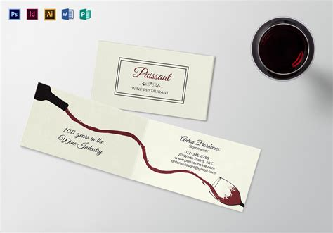 publisher folded business card template folded business card template in psd word publisher