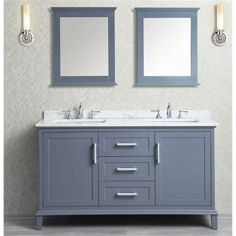 ace 60 inch double sink whale grey bathroom vanity set