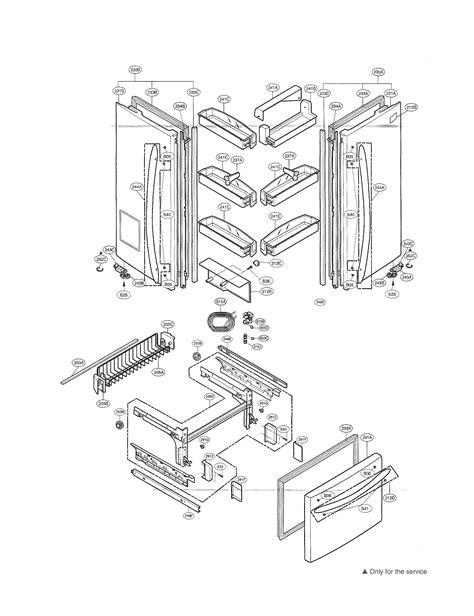 kenmore elite refrigerator parts diagram doors diagram parts list for model 79577543600 kenmore
