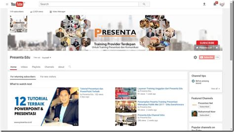 membuat channel youtube yang menarik step by step tutorial membuat slide presentasi via youtube