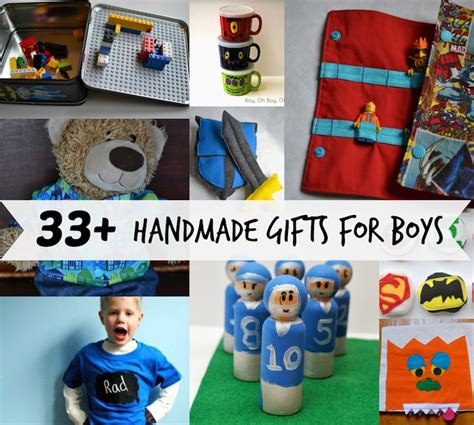 Handmade Gift Ideas For Boys - boy gift tutorials if only they would nap
