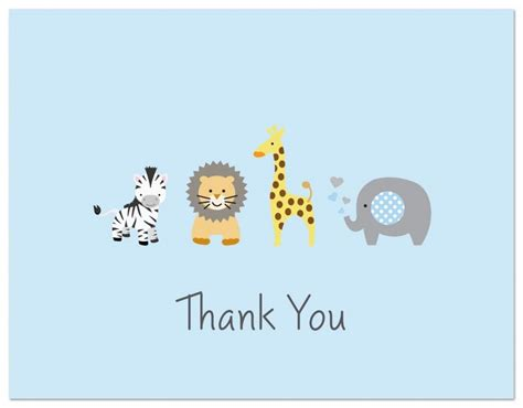 Thank You Cards For Baby Shower What To Write by Safari Baby Shower Ideas Baby Ideas
