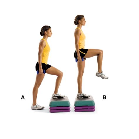 step up bench exercise a complete bench step up workout