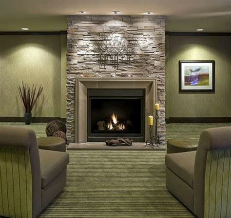 living room design ideas wall in the interior - Living Room With Fireplace Design Ideas