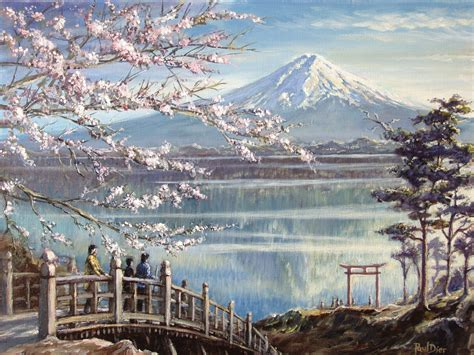 painting montana image gallery mount fuji painting