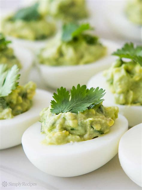 egg recipes guacamole deviled eggs recipe simplyrecipes com