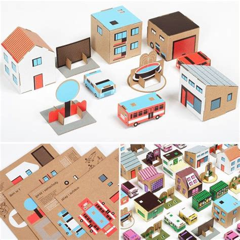 How To Make A City Out Of Paper - 654 best cardboard ideas for images on