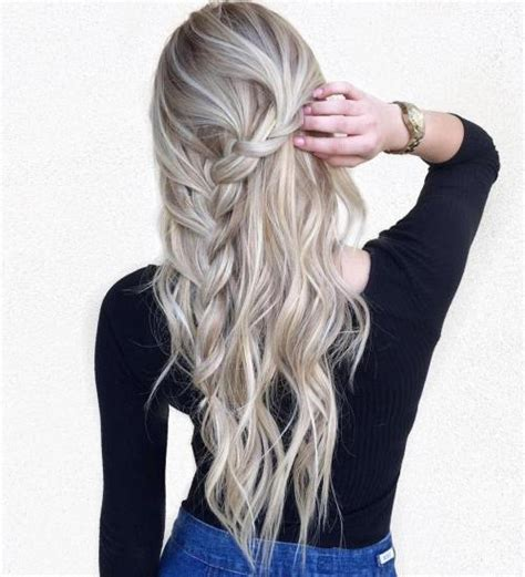 braid hairstyles for long layered hair 40 long hairstyles and haircuts for fine hair with an