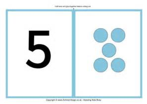 number flash cards with dots large