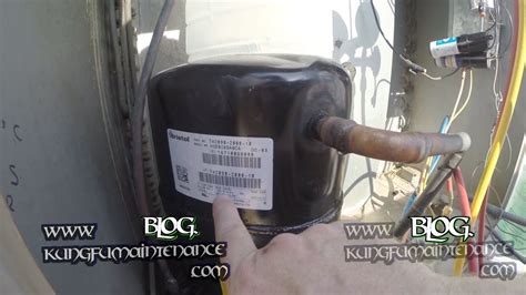check for proper air conditioner capacitor size on compressor labels maintenance repair
