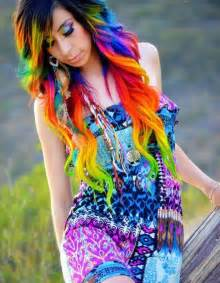 with colorful hair rainbow hair color strayhair