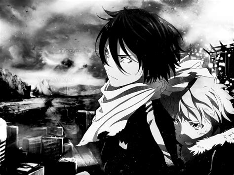 Noragami Yukine Iphone 7 noragami yato and yukine hd wallpaper monochrome by