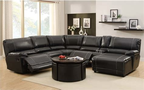 contemporary reclining sectional sofa homelegance black leather reclining sectional sofa chaise
