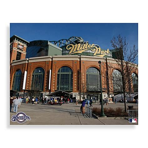 bed bath and beyond milwaukee mlb milwaukee brewers miller park canvas wall art bed