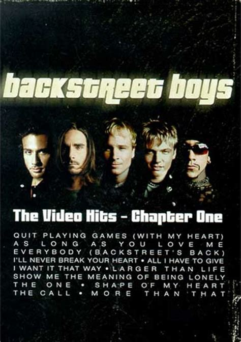backstreet boys the one backstreet boys the video hits chapter one dvd 2001