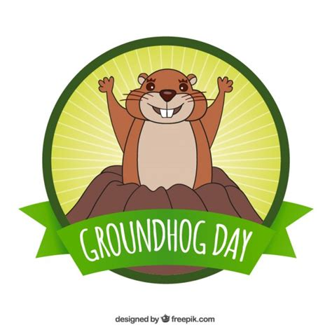 groundhog day logo groundhog day vector free