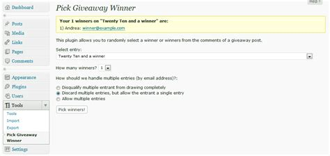 How To Choose A Winner For A Giveaway - 5 giveaway plugins tools for holding wordpress contests wp solver