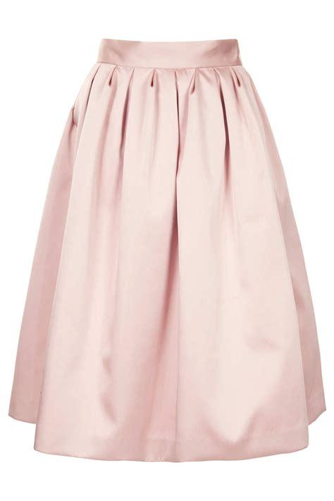 topshop limited edition duchess satin midi skirt in