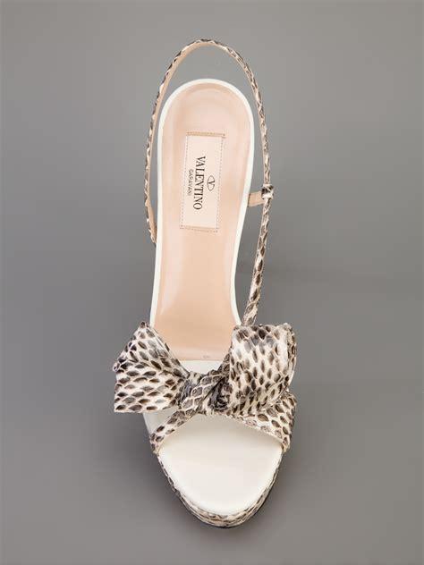 Sandal Fav Shoes 06 Sling Back valentino bow sling back sandal in white lyst