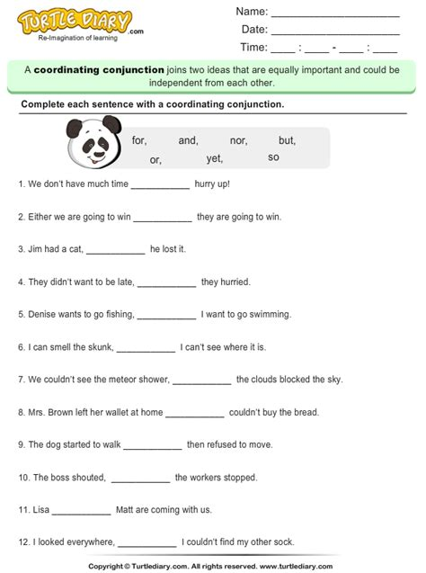 Fanboys Worksheet by Fanboys Conjunctions Worksheet Photos Getadating