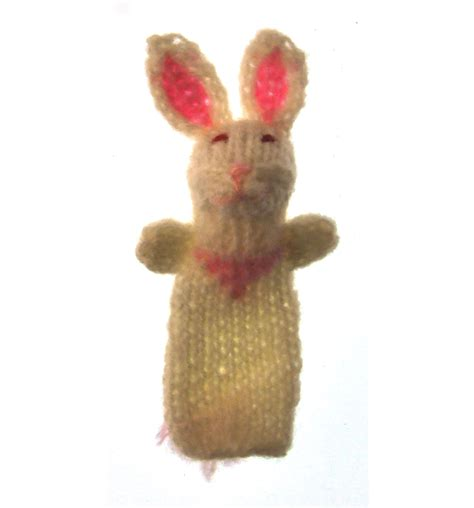 Handmade Rabbit - rabbit handmade finger puppet from peru pink cat shop