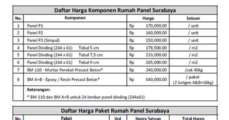 Daftar Multiplek Surabaya Rumah Panel Surabaya Bangun Rumah Panel Kuat Cepat Murah Surabaya Daftar Harga Komponen Rumah
