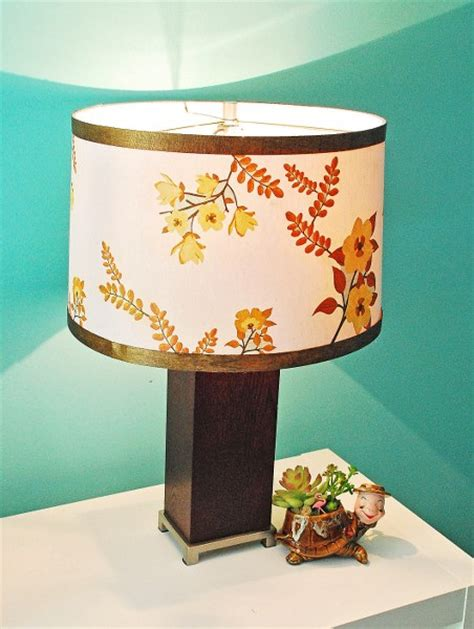 Decoupage Medium - mid century inspired lshade with martha stewart crafts