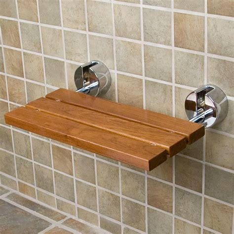 Bathroom Shower Seats Teak Modern Folding Shower Seat Bathroom
