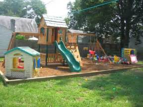 small backyard landscaping ideas for kids with playground