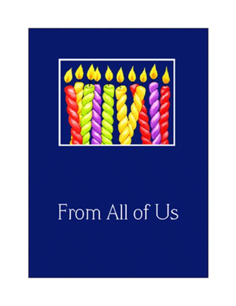 Printable Birthday Cards From All Of Us | quot from all of us quot birthday printable card blue mountain