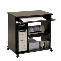 pc tisch schwarz computertisch lora in schwarz auf rollen pharao24 de