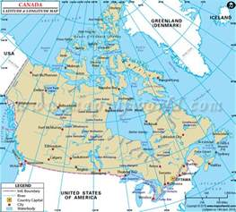 canada latitude map canada map with latitude and longitude