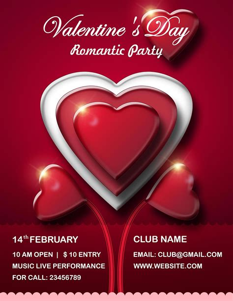 free valentines day flyer templates s day flyer psd templates free all