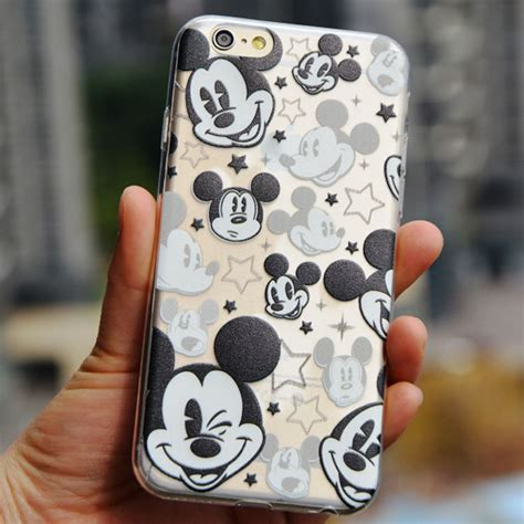 Softcase Iphone 6 Plus 6s Plus Mickey thin soft clear tpu slim mickey mouse for apple iphone 6 6s 6 plus 6s plus 4