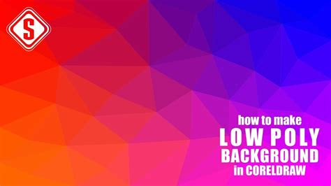 how to make background how to make low poly background design in coreldraw